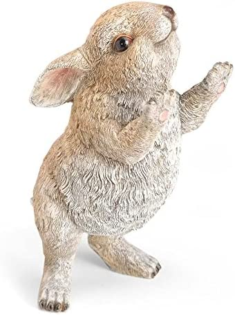 EASTER BUNNY RABBIT FRIEND WELCOME SIGN STATUE Carrot See Saw Garden Sculpture