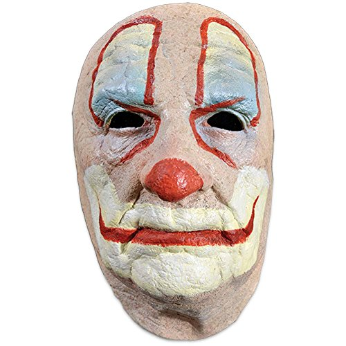 [Trick or Treat Studios Men's Old Clown Face Mask, Multi, One Size] (Old Man Halloween Mask)