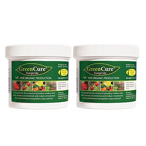 GreenCure Organic Gardening Fungicide for Vegetables, Tomatoes, Fruit Trees, Indoor Plants, and Landscaping With Powdery Mildew and Blight Treatment and Potassium Bicarbonate, 8 oz. each (Pack of - Fruit Fungicide Trees