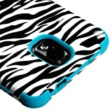 Samsung Galaxy Note 3 N900A Case, Kaleidio [TUFF] Shockproof Hybrid Dual Layer Protective Cover [Includes a Overbrawn Prying Tool] [Zebra Pattern]