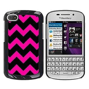 Paccase / SLIM PC / Aliminium Casa Carcasa Funda Case Cover para - Hipster Purple Black Pattern - BlackBerry Q10
