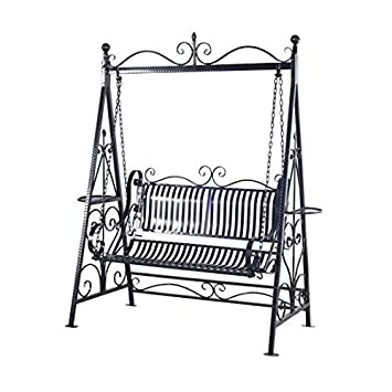 e8f85ccbb2 Stable Waterproof Vintage Garden Swing Seat - Durable Cast Iron And Steel  Tube Construction - Vintage Ornate And Decorations  Amazon.co.uk  Garden    ...