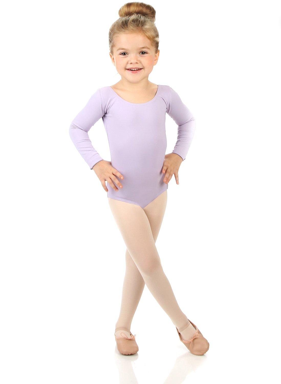 Elowel Girls' Team Basics Long Sleeve Leotard Lavender (size-6-8)