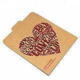 12.5x12.5cm (4.9''x4.9'') Kraft Paper CD DVD Packaging Bag Storage Box Retail CD Case Cover Holder Envelope For Wedding Birthday Party CD Packaging Bag (30, LOVE)