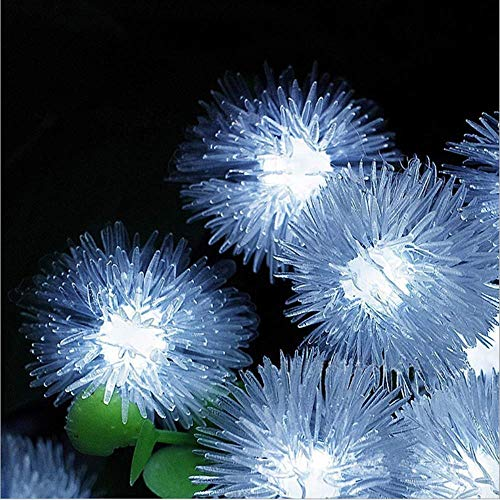 Williamtai 30LED 6M Solar Fairy Chuzzle Ball Outdoor Lights, Snowflake Solar Powered Lamp LED String Lights for Garden Christmas Party Decor ()
