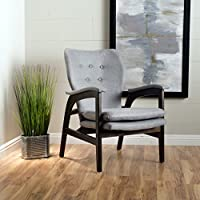 Christopher Knight Home 299415 Jasper Mid-Century Fabric Arm Chair, Gray
