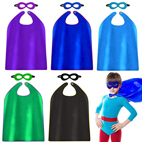 Inexpensive Diy Halloween Costumes (Super Hero Capes and Mask for Kids Bulk Party Favors Role Cosplay Costumes Like Superhero Style (5)