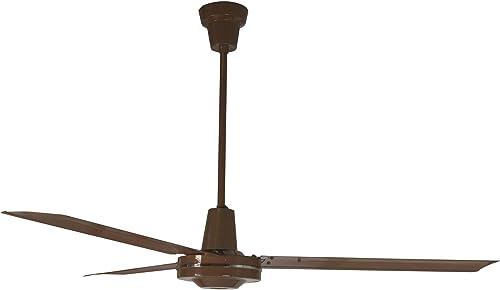Leading Edge 60011 60-Inch Heavy Duty High Performance Ceiling Fan, 46000 CFM, Brown