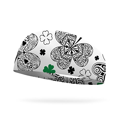 Doodles Headband by Bondi Band, color your own fashion or sport headband with moisture wicking for adults and children. Clover, Child