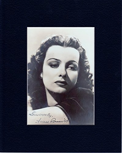JOAN BENNETT 8 by 10 CUSTOM MATTED PHOTO AUTOGRAPH DISPLAY...WE SHIP THE DAY OF - Store Payment