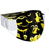 melupa 3 Ply Non-Woven and Breathable, Cute Cartoon 20Pcs Face Bandanas with Cute Printing, No Washable, Anti-Haze Dust, for