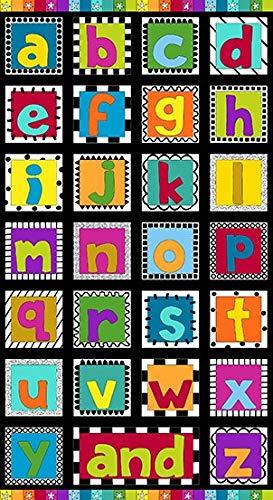 and Z Alphabet Panel by Kim Schaever for Andover Fabrics 24