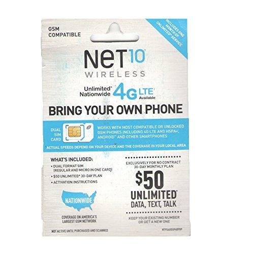 NET10 - 30-DAY SIM Activation KIT - White