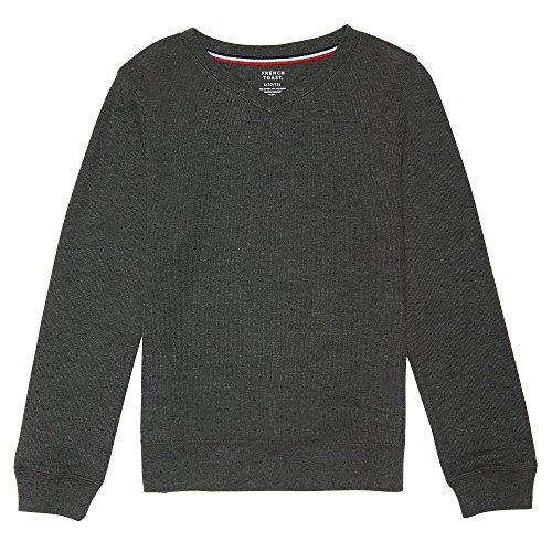 French Toast Boys Long Sleeve Flat Back Rib Knit Pullover