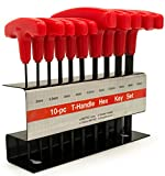 Bastex 10pc Metric T-Handle Hex Key Allen Wrench Tool Set