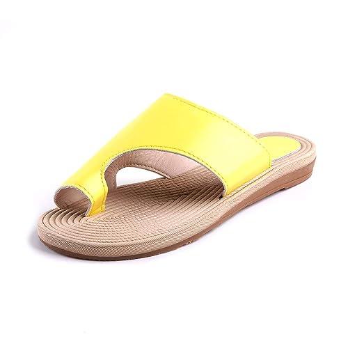Sandalias de Mujer Cómodos Plataforma Zapatos de Viaje de Playa de Verano Sandalias Correctoras Juanetes Talón 2.5CM Negro Azul Rosado Amarillo EU 35-EU 43: ...