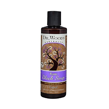 Dr Woods Shea Vision, Pure Black Soap With Shea Butter, 8-Ounce Pack of 12