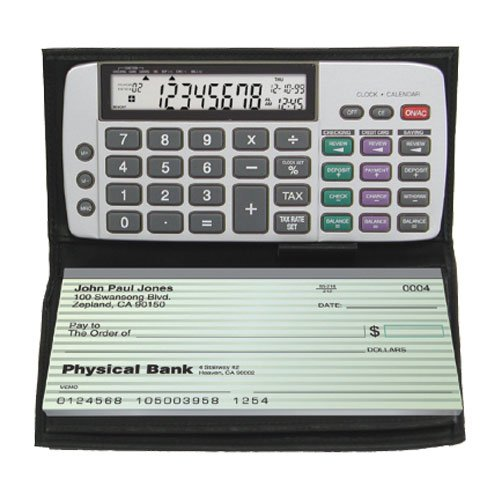 Datexx DB-413 Checkbook Calculator - Cards Slim Calendar