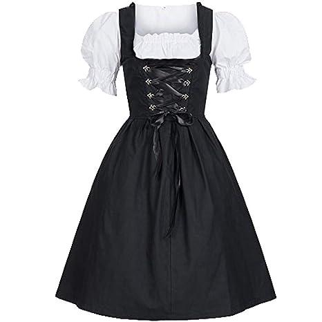 39050684b3a Fête de la Bière Robe de Soirée Halloween Femmes Élégant Femme de Chambre  Cosplay