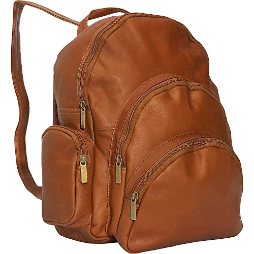 Expandable Leather Computer Backpack - 6