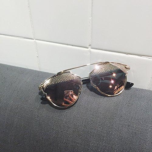 Mujeres Rivet Ojos Vviiyj Face Sol Eyebrows Rose tirano Oro Gafas Gato Gafas Espejo Gold De SqwRqAzH