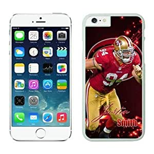 NFL Iphone 5/5S an Francisco 49ers Justin Smith White Case Cover For SamSung Galaxy Note 2 Cell Phone Case ONXTWKHC3880