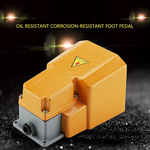 250V 10A Pedal Foot Switch,Acogedor Aluminum Alloy Oil Resistant Corrosion-Resistant Heavy Duty Foot Switch with Guard by Acogedor (Image #3)