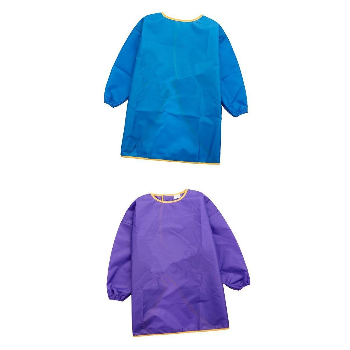 MagiDeal 2Pieces Children Kids Long Sleeve Apron Drawing Painting Waterproof Smock L