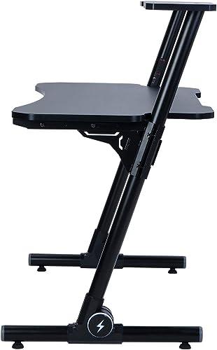 Z-Shaped Gaming Desk Computer Desk Adjustable Desktop Gamer Tables Home Office PC Desk Workstation