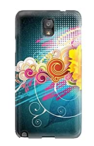Perfect Fit SZWmnCV287GiOfh Awesome Free Vector Flower Case For Galaxy - Note 3