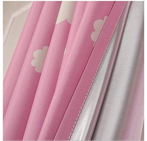 Bedroom 39 Inch Set - MYRU 2 Panels Set Pink Curtains for Girls Room Bedroom (39