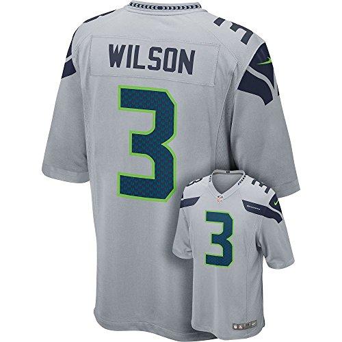 NIKE NFL Men's Russell Wilson Seattle Seahawks Jersey – Grey – DiZiSports Store