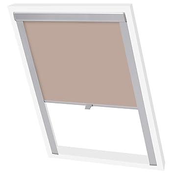 Vidaxl Store Enrouleur Occultant Beige M06306 Rideau Pour Fenêtre