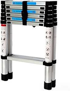 XSJZ Mini Escalera Plegable, Aleación de Aluminio Ultra Ligero Antideslizante Plegable Escalera Telescópica Portátil Escalera Ascendente Ascendente Escalera Plegable (Color : A): Amazon.es: Hogar