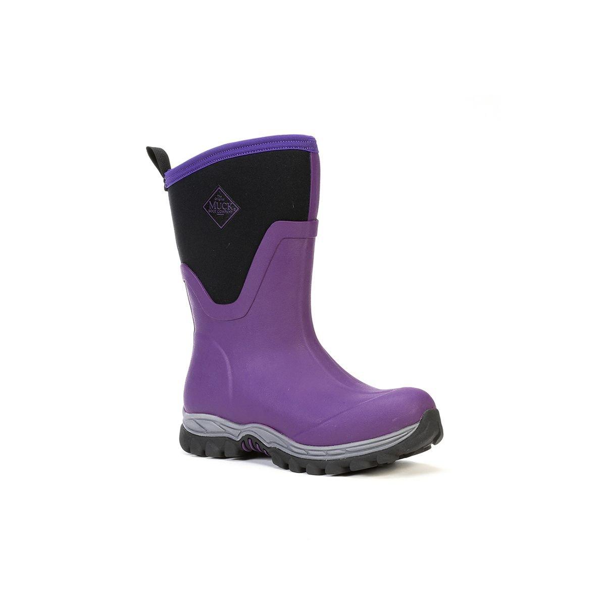 Muck Boot Company Women's Arctic Sport Ii Mid Winter Boots Socks, Purple, Size 7