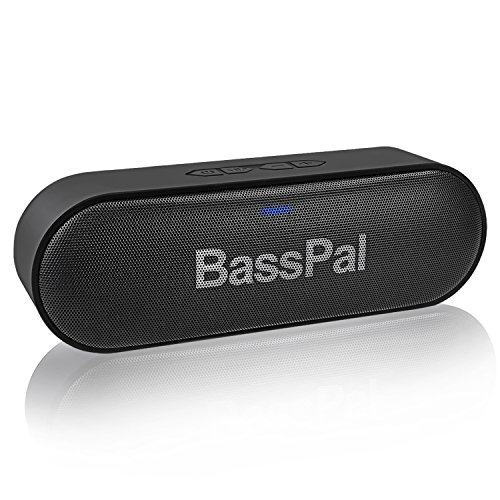BassPal SoundRo Portable Bluetooth Speaker, Waterproof Wireless Speaker with Stereo Sound, Rich Bass, 2×6W, 24-Hour Playtime, TF Card Slot, Built-in Mic, Outdoor Subwoofer for Home, Party, Travel