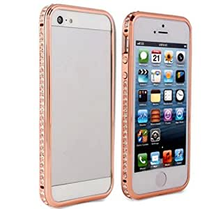 Rhinestone Diamond Bling Metal Case Cover Bumper For iPhone 5 5S