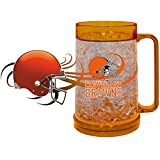 NFL Cleveland Browns Freezer Mug (16-Ounce), Large, Burnt Orange
