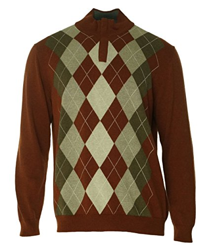 Brown 1/4 Zip Sweater - 1
