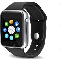 Smart Watch - 321OU Touch Screen Bluetooth Smart Wrist Watch Smartwatch Phone Fitness Tracker with SIM SD Card Slot Camera Pedometer for iPhone iOS Samsung LG Android for Women Men Kids (Silver)