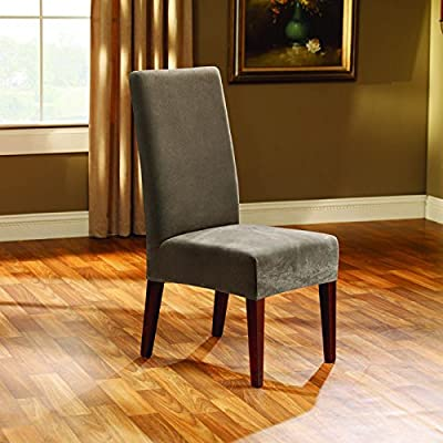 Sure Fit Stretch Pique - Shorty Dining Room Chair Slipcover - Cream