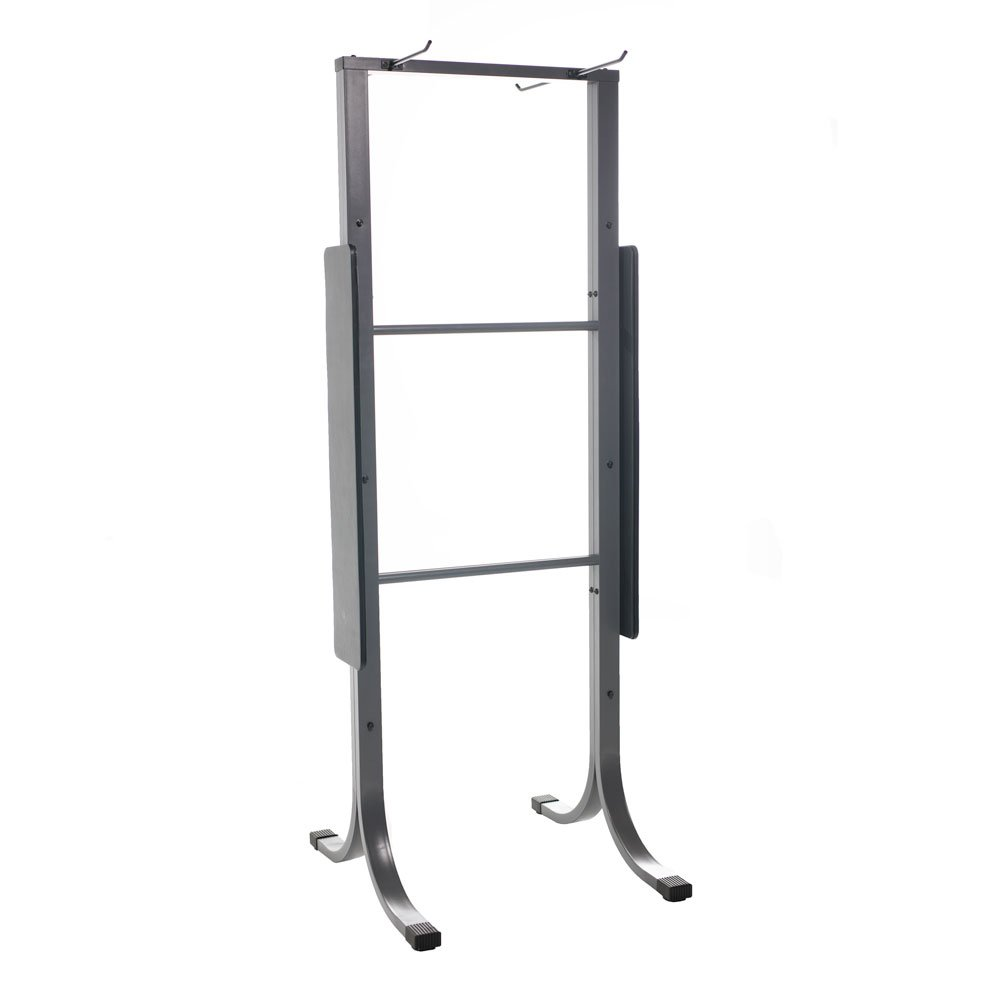Power Systems Dual-Sided Standing Mat Rack, Holds Up To 28 Yoga Mats, 30 x 29 x 79 Inches, Gray (92590)
