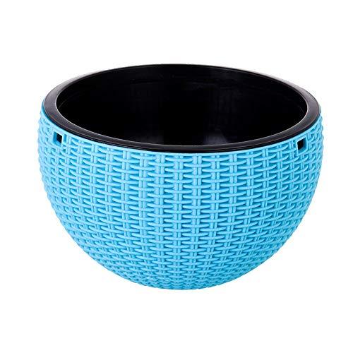 Pot Painter Wall - Plastic Flower Pot Hanging Flower Pot Rattan Hanging Basket Basket Multi-color Optional Gardening pot (Color : Blue)