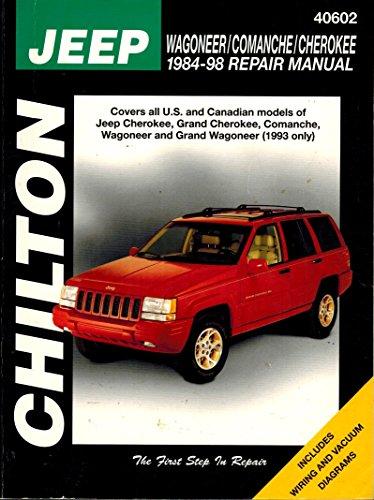 Jeep Wagoneer/Comanche/Cherokee 1984-1998 Repair Manual; Part No. 40602; ()
