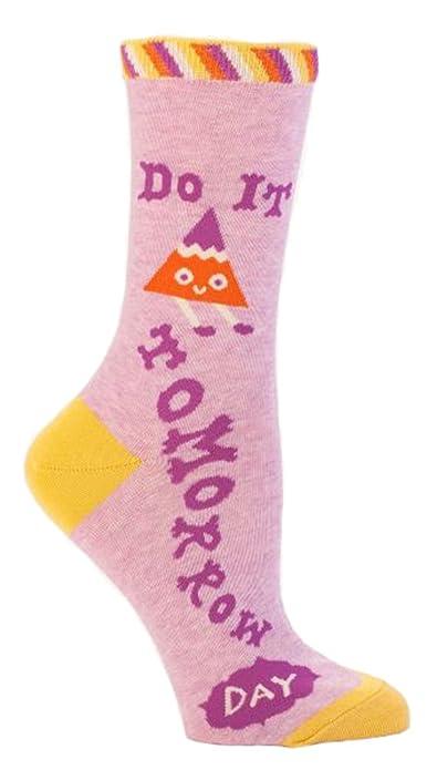 92cf17d1e0978 Blue Q Socks: Do It Tomorrow Day 5-10, Multi, One Size at Amazon Women's  Clothing store: