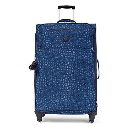 Kipling Parker Large Printed Rolling Luggage Monkey Mania Blue
