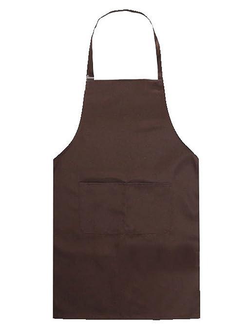 Nikgic 1pc Niños Delantal cocina delantal babero delantal gastronomía barbacoa delantal cocina delantal (Marrón)
