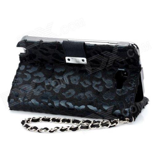 itronik Leopard Luxus HÜLLE TASCHE für APPLE IPHONE 4 4S DELUXE CASE HARDCASE ETUI HÜLLE SCHUTZHÜLLE - Schwarz Black