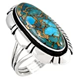 #4: Sterling Silver 925 Ring with Genuine Turquoise (SELECT color)