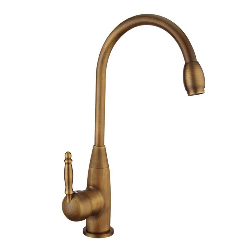C XCHEN Bathroom Tap, Antique Copper Basin Faucet Single Handle Hot And Cold Water Mixer Faucet Black Faucet,A